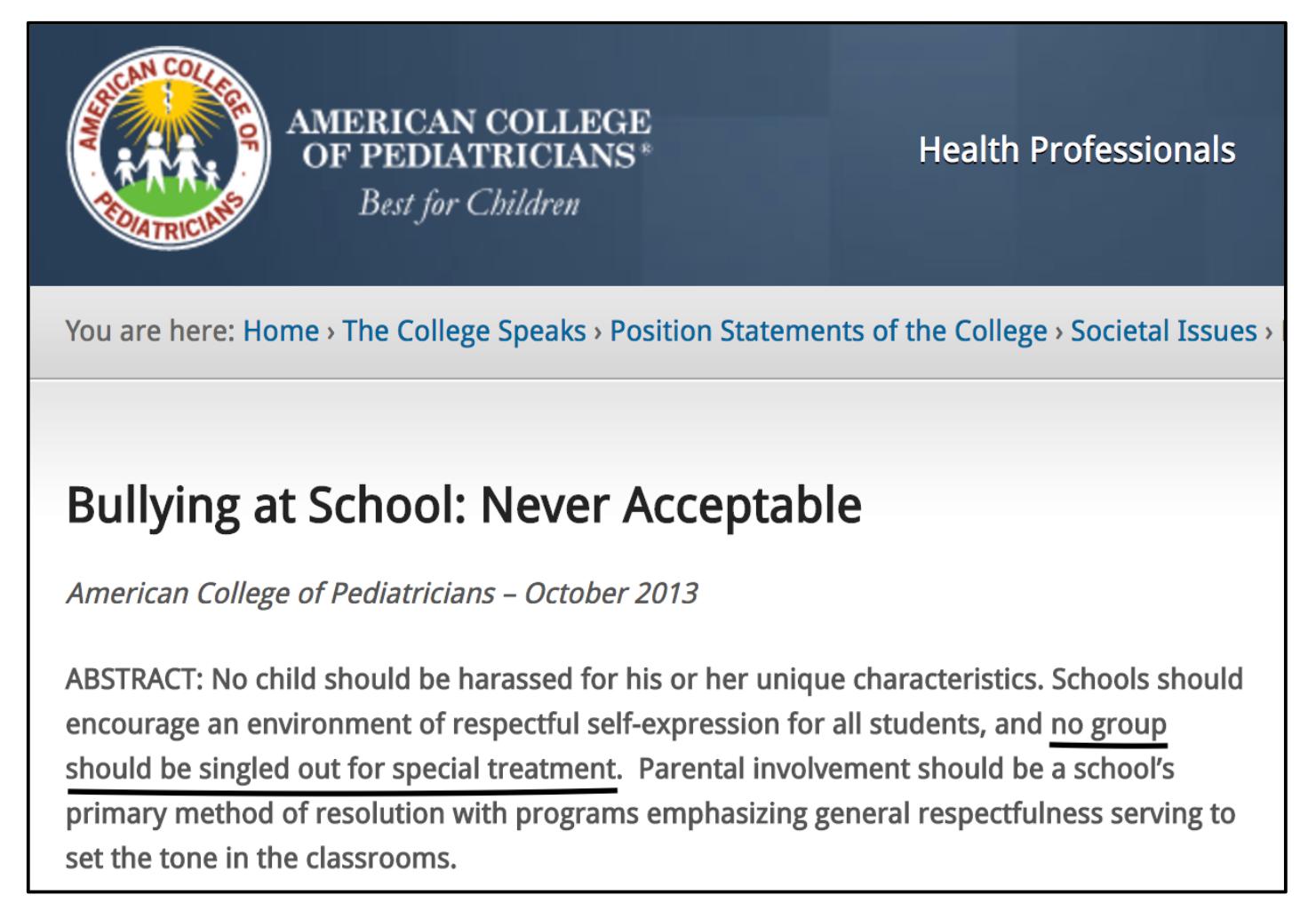《校园欺凌:决不能接受》的摘要